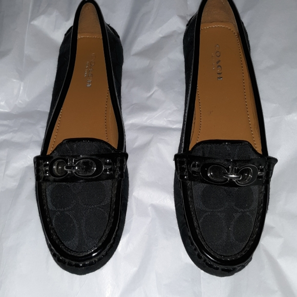 Coach Shoes - NWOT! COACH black slip ons